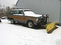1985 Jeep Wagoneer with plow